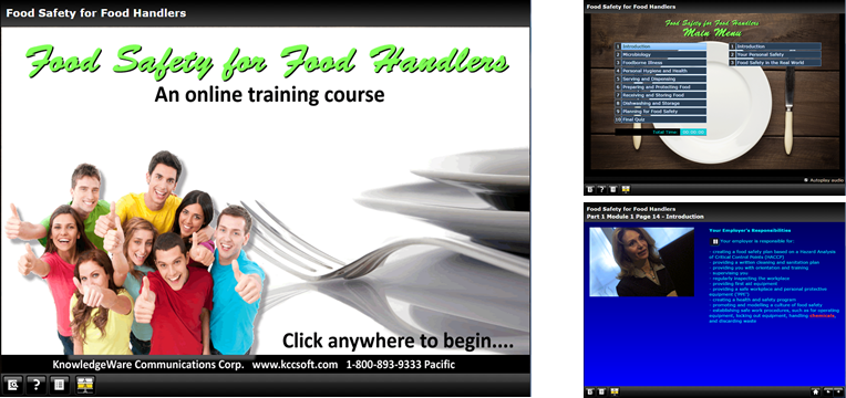 Food Safety for Food Handlers online training