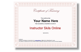 instructor skiils certificate image