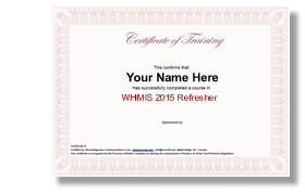 Whmis 2015 Refresher With Ghs Knowledgeware