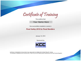 Food Safety Training Online Certificate Course - KnowledgeWare